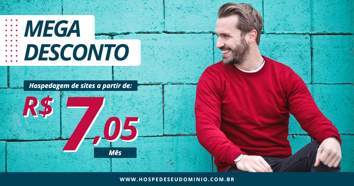 30% OFF Hospedagem de sites